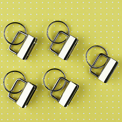 Key Fob Hardware - PICK 1 or 1.25 inch - YOU CHOOSE QUANTITY - FREE SHIPPING