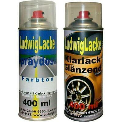 2 Spray im Set 1 Autolack1 Klarlack 400ml für RENAULT 068 Gris Volcan Metallic