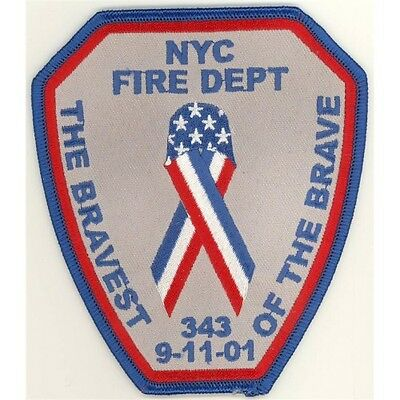 91101 343 NYC Fire Department Bravest Patch