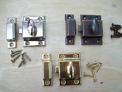 Steel Large Cupboard Cabinet Door Thumb Turn Thumbturn Catch Latch Lock