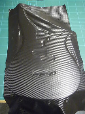 Carbon Fibre Wrap Guitar Body Sticker Overlay Sheet To Cut To Your Own Design