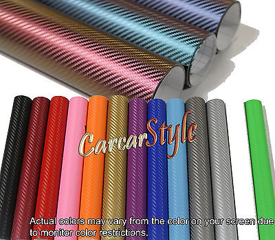 【Bubble/AIR Free】ALL COLOUR /ALL SIZE 【Carbon Fibre Vinyl】Wrap 3D Textured 4 CAR