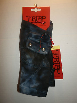 Tripp Arm Warmers Army Indigo Washed Gloves Fingerless From Hot Topic Punk Goth