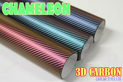 【Chameleon】【CARBON FIBRE VINYL】Vehicle Wrap Vinyl Sticker SMALL SIZE Air Free