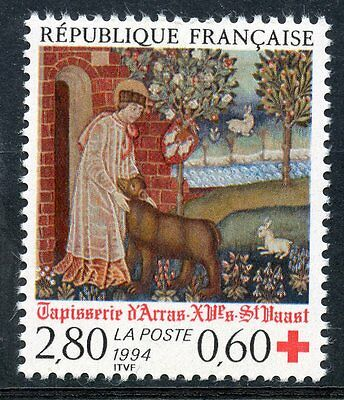 Stamp / Timbre France Neuf N° 2915 ** Croix Rouge Tapisserie D'arras