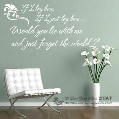 """""""If I Lay Here"""" Wall Quote Removable Nursery Decor Vinyl Decal Sticker Home DIY"""
