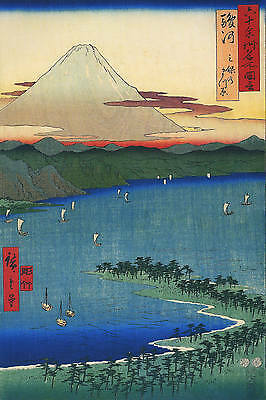 3 Japanese Woodblock Reproduction Antique Mount Fuji Prints Ando by Hiroshige