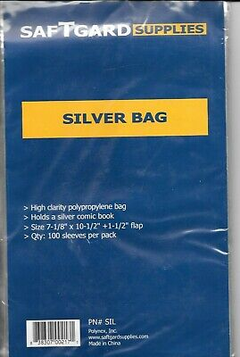 10 SILVER SIZE COMIC BOOK BAGS and 10 BACKING BOARDS ARCHIVAL SAFE FREE SHIPPING