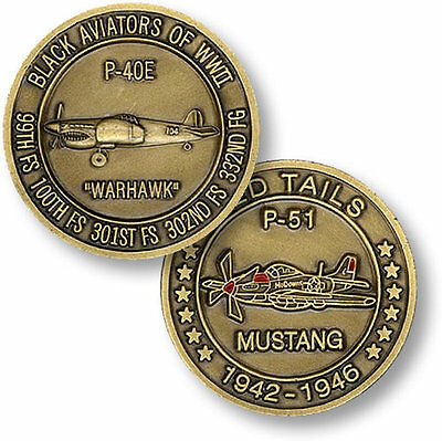 TUSKEGEE AIRMAN Army Air Corps / Force Challenge Coin S