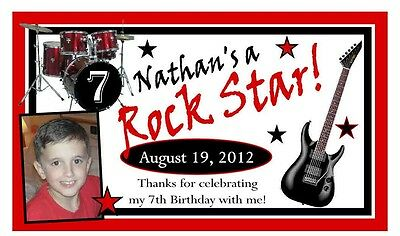 12 Rock Star Birthday Party Favors Photo Magnets