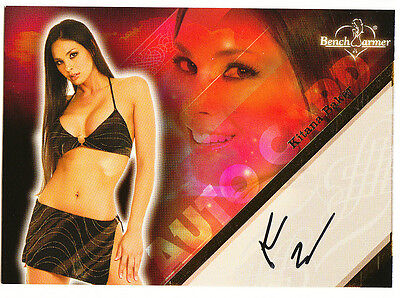 2008 BENCHWARMER KITANA BAKER AUTHENTIC AUTOGRAPH TRADING CARD # 3 of 20