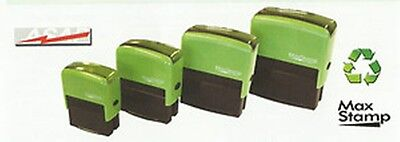 Eco Friendly 100% Recycled Personalised Custom Self Inking Rubber Stamps