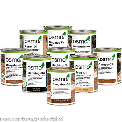 Osmo Exterior Wood & Decking Oil 5ml, 125ml, 750ml & 2.5 litres 11 Colour Shades