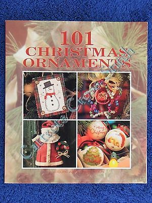 101 Christmas Ornaments Book Cross Stitch Quilt Paint +