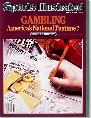 March 10, 1986 Gambling SPORTS ILLUSTRATED NO LABEL Newsstand A