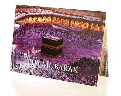Eid Greeting Card: Night View of the Kabah -Printed on Heavy White Paper Stock