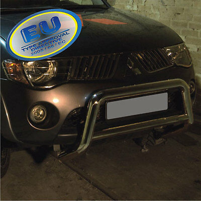 PARE BUFFLE MITSUBISHI L200  2007-2009 HOMOLOGUE INOX 70mm