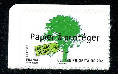 Stamp / Timbre France  N° 4205 ** Environnement Papier A Proteger / Autoadhesif