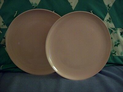 """Taylor Smith & Taylor PEDDLEFORD 10 1/8"""" Plates (2) Pink NICE Priced To Sell"""