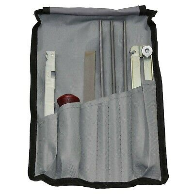 """Chainsaw Chain Files Guide Kit Flat 7/32"""" Depth Gauge Sharpening for 3/8 & .404"""""""