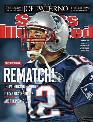January 30, 2012 Tom Brady New England Patriots SPORTS ILLUSTRATED NO LABEL A