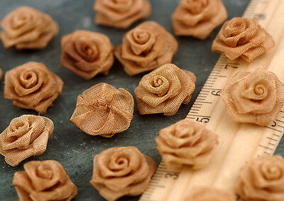 16mm Champagne Handmade Brass Weaved Knit Rose Flower Charms Finding bf41 (2pcs)