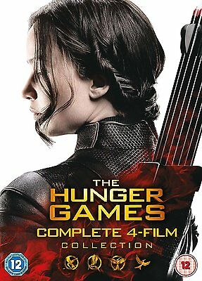 Hunger Games Complete Collection DVD Box Set Catching Fire Mockingjay Part 1 & 2