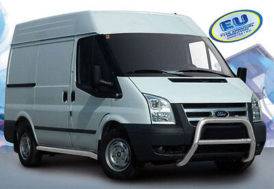 PARE BUFFLE FORD TRANSIT  2006-2014 HOMOLOGUE INOX Ø 70mm A- TYPE