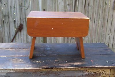 Vintage Wooden Wood Step Stool High School Shop Class Project?