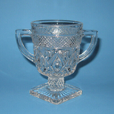 Imperial Glass CAPE COD Open Sugar Bowl 2-Handled