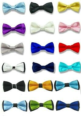 31 Colors Boys Children Kids Solid Bowtie Groom Wedding Party Satin Bow Tie BCH