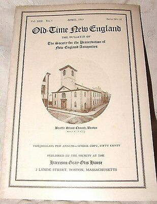 April 1923 Old Time New England The Bulletin of SPNEA Vol XIII No 4 CHURCHES
