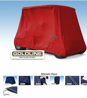 Goldline Premium 4 Person Passenger Golf Car Cart Storage Cover, Red