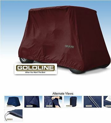 Goldline Premium 4 Person Passenger Golf Car Cart Storage Cover, Burgundy
