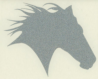 Sm Silver Glitter Thoroughbred Race Horse Equestrian Equine Vinyl Decal Sticker