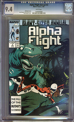 Alpha Flight Annual #2 CGC 9.4 NM WHITE Pages Universal