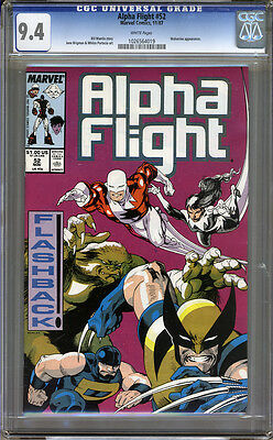 Alpha Flight #52 CGC 9.4 NM WHITE Pages Universal