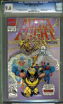 Alpha Flight Special #v2 #1 CGC 9.6 NM+ WHITE Pages Universal