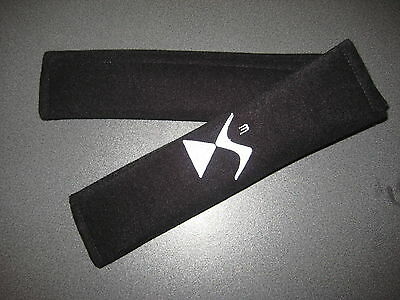 Seat Belt Harness Pads in Black with Citroen DS3 Logo in White