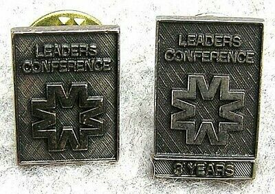 NALU 10K Solid Gold Leaders Pins National Association of Life Underwriters