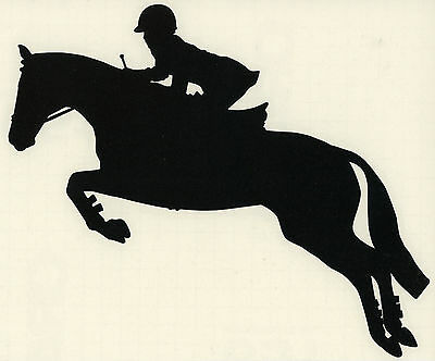 Thoroughbred Hunter Sticker Jumper Horse Pony Equestrian Decal Black Small