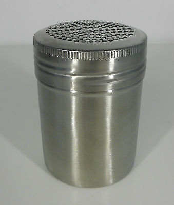 Stainless Steel Salt and Pepper Shaker/Dredge 250ml capacity