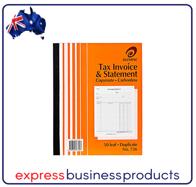 Olympic #726 Duplicate Tax Invoice & Statement Book - AO140874
