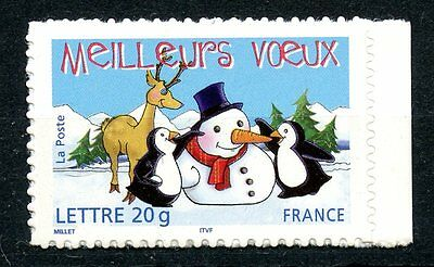 Stamp / Timbre France Neuf N° 3854 ** Meilleurs Voeux Emis En Carnet Adhesif