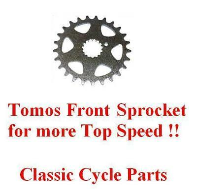 Tomos Front Speed Sprocket A3 Silver Gold Bullet TT NEW