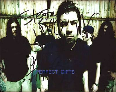 Deftones X5 Band Signed 10X8 Pp Repro Photo Chino