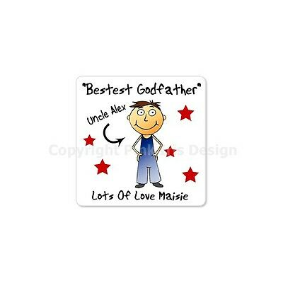 Personalised Fridge Magnet Godparent Godfather Godmother Thankyou Present Gift