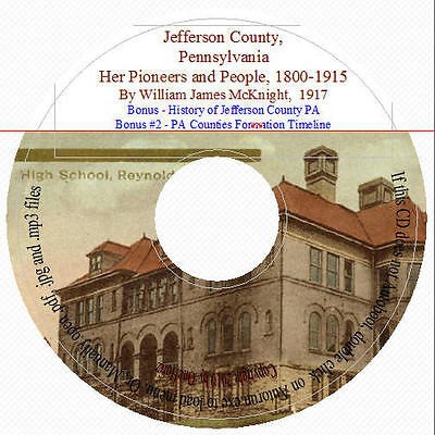 Jefferson County PA Pioneers and People in Two Volumes + bonus book