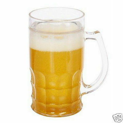 Frosty Freezer Mug Freezable Beer Cup for Cold Beverage Ice Tea Coke Drink Glass