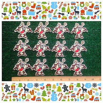 Santa Claus Taz Tasmanian Devil Looney Tunes Christmas Sew-Iron Lot (12) Patches